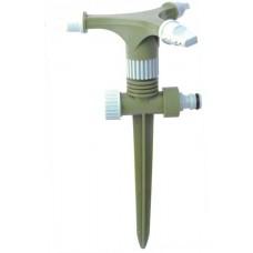 Спринклер роторный тройной с регулировкой полива (пластик)
