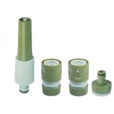 Набор распылительный для садового шланга 1/2 дюйма (насадка, коннекторы, адаптер)