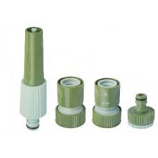 Набор распылительный для садового шланга 3/4 дюйма (насадка, коннекторы, адаптер)