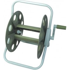 Катушка для шланга (намотка до 45 м для шланга 1/2 дюйма), материал алюминий