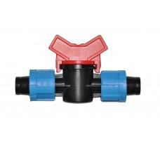 Кран соединительный для капельной ленты в системах капельного полива