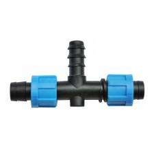 Тройное соединение для капельной ленты  и многолетней трубки