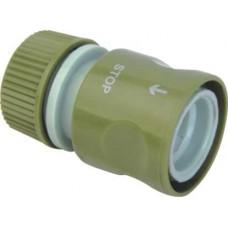 Коннектор с клапаном шланга поливочного (садового) 1/2 дюйма