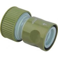 Коннектор шланга поливочного (садового) 3/4 дюйма с клапаном