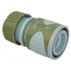 Коннектор с клапаном шланга поливочного (садового) 1/2 дюйма (серия Soft)