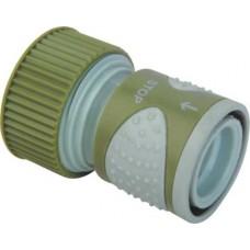 Коннектор шланга поливочного (садового) 3/4 дюйма с клапаном (серия Soft)