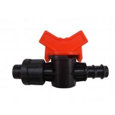 Кран для соединения многолетней трубки  и капельной ленты в системах капельного полива