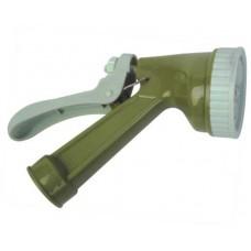 Пистолет садовый поливочный (пластиковый распылитель, 4 типа струи, ручка без рисунка)
