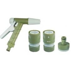 Набор распылительный для садового шланга 1/2 дюйма (пистолет, коннекторы, адаптер)