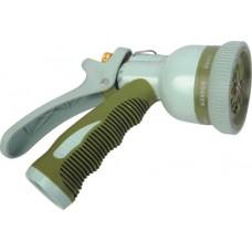 Пистолет садовый поливочный (пластиковый распылитель, 8 типов струи)