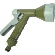 Пистолет садовый поливочный (пластиковый распылитель, 4 типа струи)