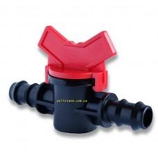 Кран соединительный для многолетней трубки , диаметр 20 мм