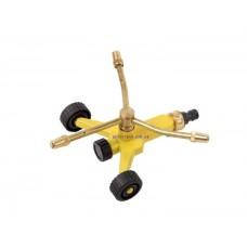 Спринклер тройной роторный платформа на колесах (три регулируемые форсунки, латунь)