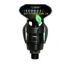 """Двухсекторный  дождеватель """"COBRA""""  (пластик)  на ножке"""