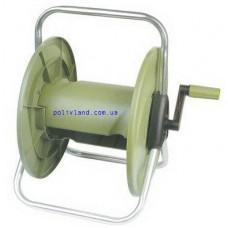 Катушка для шланга (намотка до 60 м для шланга 1/2 дюйма), материал алюминий