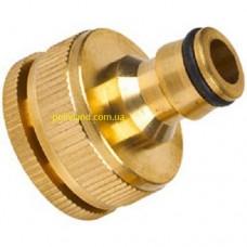 Адаптер быстрого подключения, латунный, диаметр внутренней резьбы 1/2 --- 3/4 дюйма