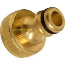 Адаптер быстрого подключения, латунный, диаметр внутренней резьбы 1 дюйм