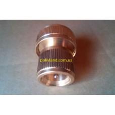 Коннектор шланга поливочного  3/4 дюйма, латунный ( с клапаном )