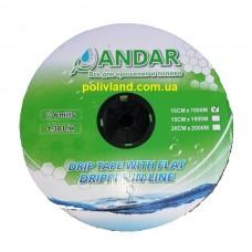 """Капельная лента  """"ANDAR"""" - (эмиттерная), 6 Mil, 10 см,  1000 м"""