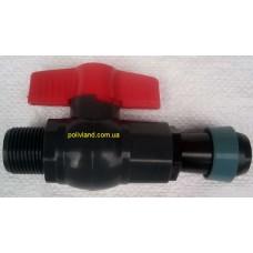 Кран стартовый для шланга Golden Spray (шланг Туман) диаметр 25 мм, наружная резьба 3/4 дюйма