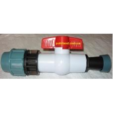 Кран стартовый для шланга Golden Spray (шланг Туман) диаметр 25 мм,  зажимной  D-25